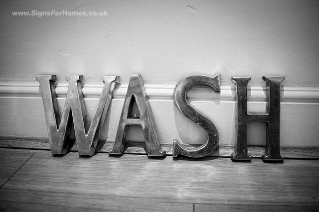 Vintage Letters WASH