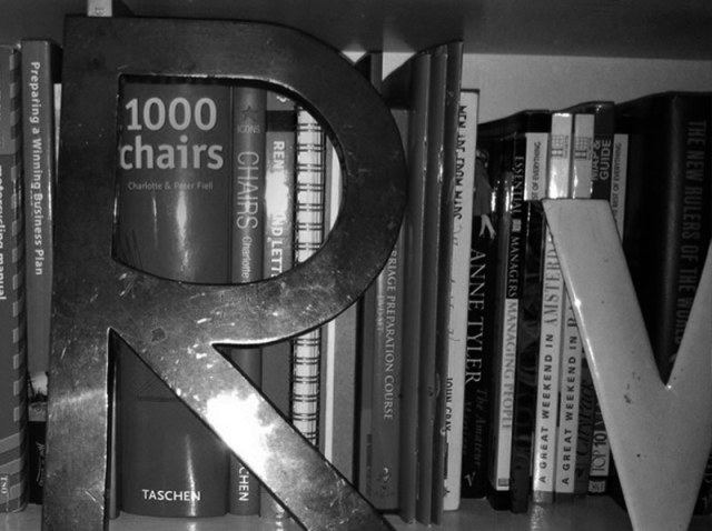 Vintage Brass Shop Letter 'R' bought from a vintage shop in London.