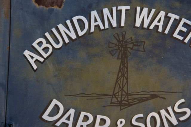 Abundant Water Darr & Sons Sign
